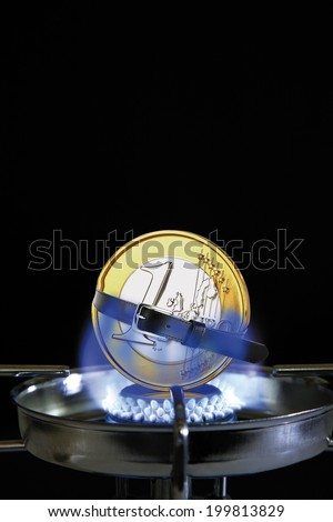 Flame of gas stove
