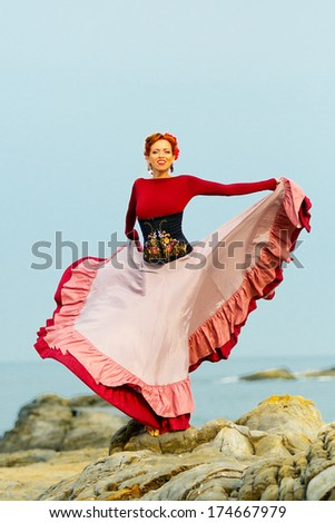 Flamenco Carmen beautiful woman flamenco dancer
