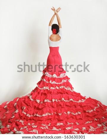 Flamenco dancer - stock photo
