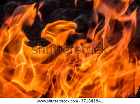 flames against a black background