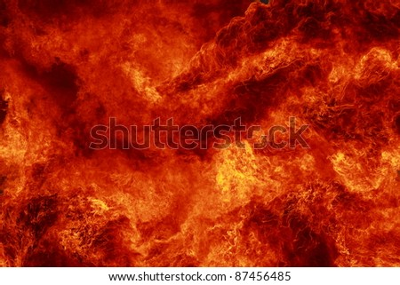 Flames as background - stock photo