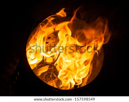 Flames Background - stock photo