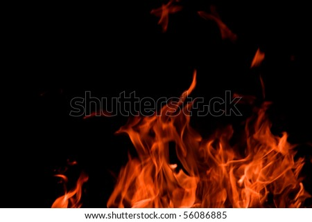 Flames. Can be used as a background. - stock photo