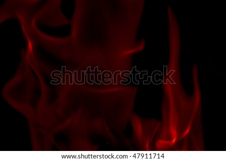 Flames Fire of Hell against a black background. - stock photo