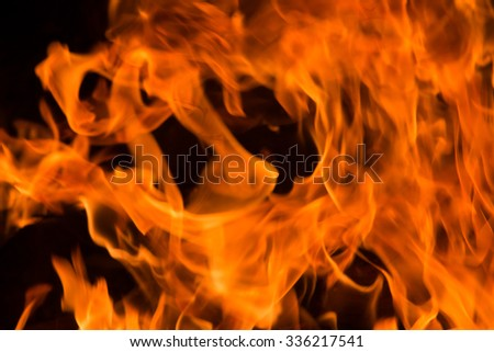 Flames from the burning of wood., blaze fire flame texture background.