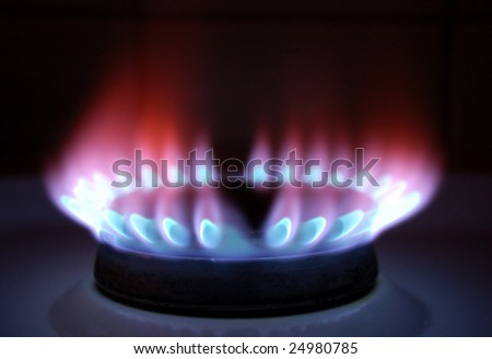 flames of gas - stock photo