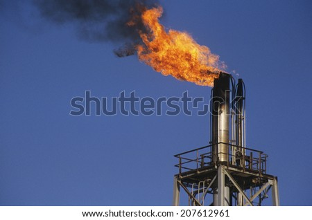 Flaming Exhaust - stock photo