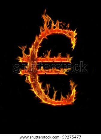 Flaming font, Euro sign