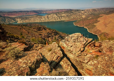 Flaming Gorge recreation area - stock photo
