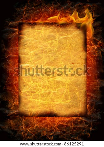 flaming old paper background