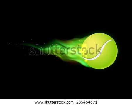 Flaming Tennis Ball - stock photo