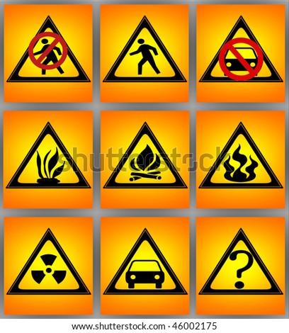 flammable, - stock photo