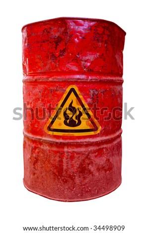flammable drum barrel - stock photo