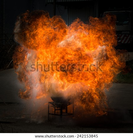 flammable explosion - stock photo