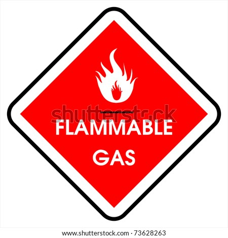 flammable gas - stock photo