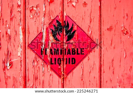 Flammable Sign - stock photo