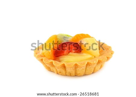 Flan - cupcake with fruits