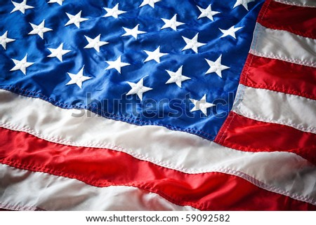 flapping flag USA with wave