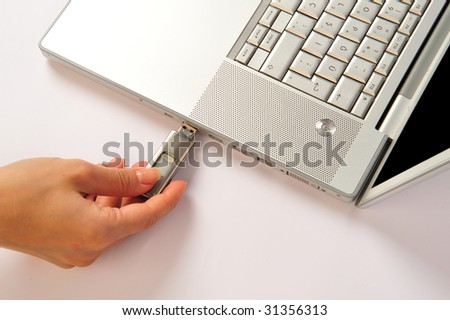 flash disc - stock photo
