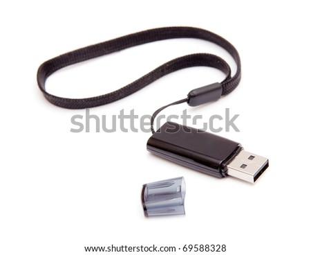 Flash drive isolated on white background