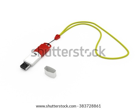 flash drive Isolated USB.