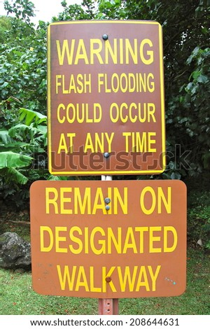 Flash Flood Warning - stock photo