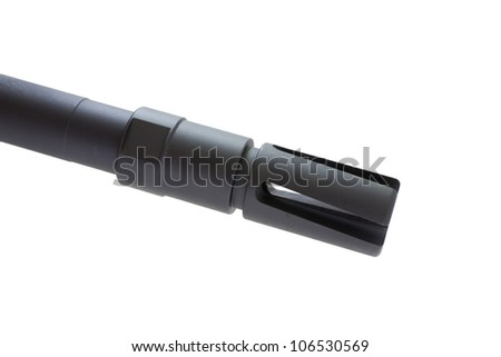 Flash hider that is found on an assault rifle