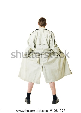 Flasher isolated on white background - stock photo