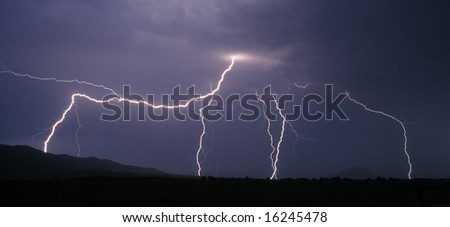 flashes of lightnings during a thunderstorm