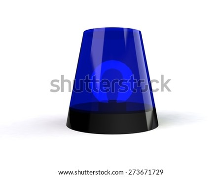 Flashing light beacon - stock photo