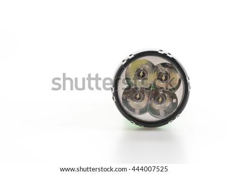 Flashlight on white background - stock photo