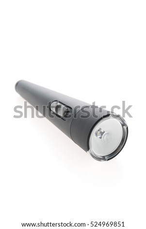 Flashlight OR Torch isolated on white background