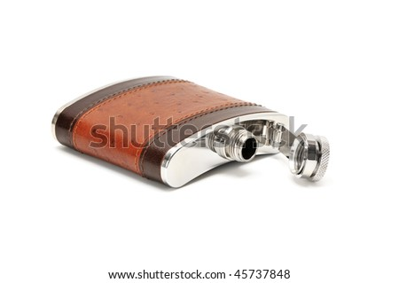 Flask isolated on a white