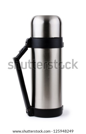 Flask isolated on the white background