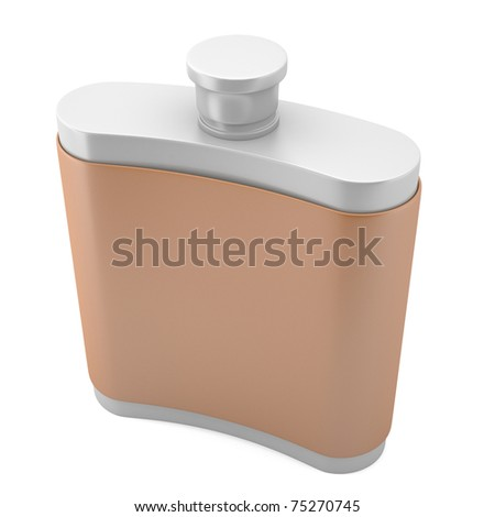 Flask isolated on white background