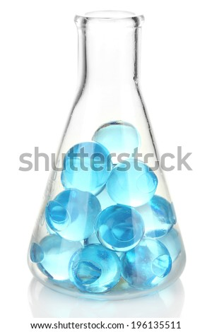 Flask with hydrogel isolated on white - stock photo