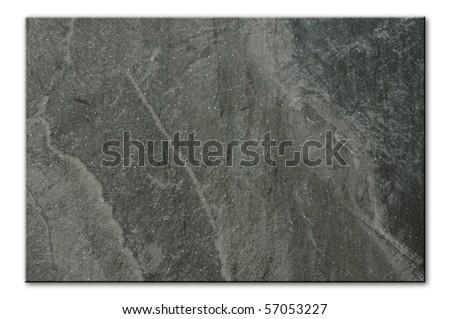 flat background image of grey stone floor tile - stock photo