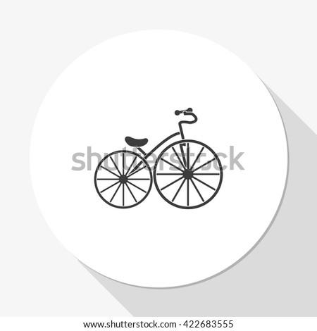 Flat bicycle illustration. - stock photo