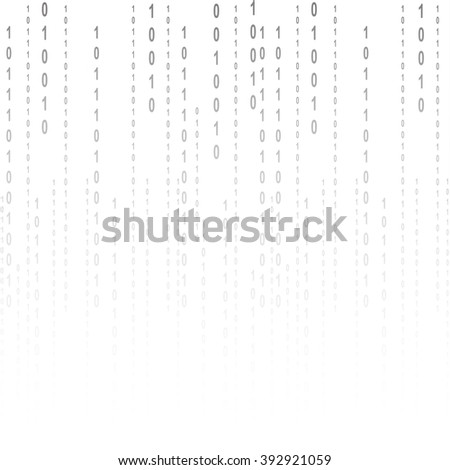 Flat binary code screen listing table cypher - stock photo