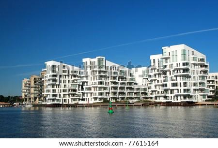 flat blocks building - stock photo