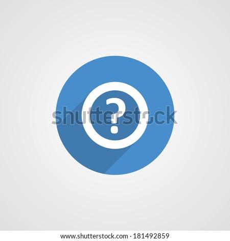 Flat blue help icon illustration - stock photo