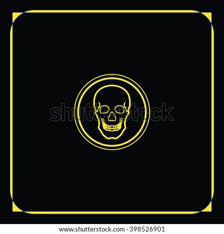 Flat Coin Skull Symbol Pirates Danger Stock Illustration 398526901