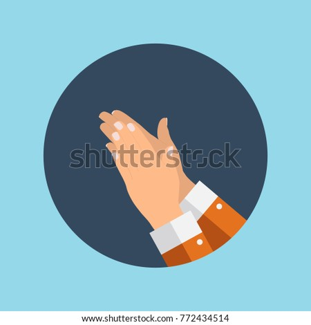 flat concept success applause hands clapping stock illustration