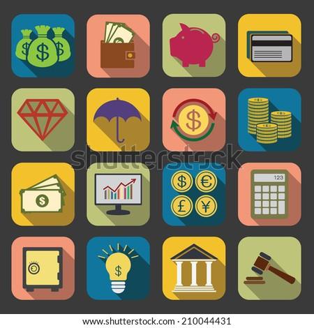 flat Finance icon - stock photo