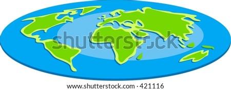 flat globe