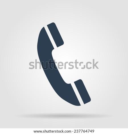 Flat icon of a phone.  illustrator - stock photo