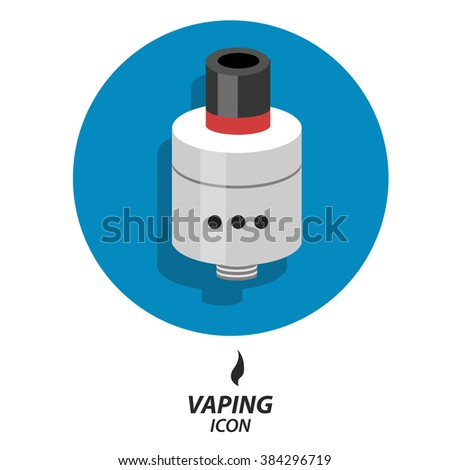 Flat icon vaping atomizer
