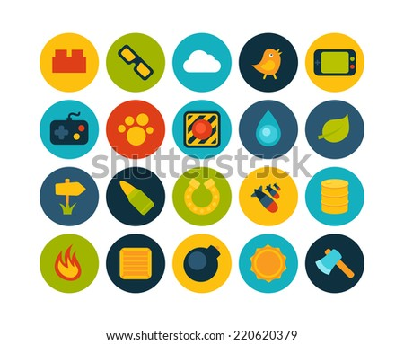 Flat icons set 4 - game collection