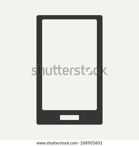 Flat in black and white mobile application mobile phone  - stock photo