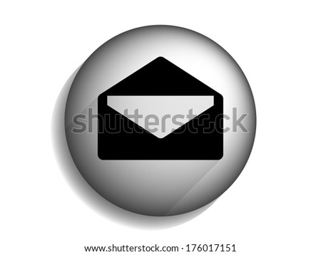 Flat long shadow icon of letter